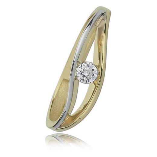 Balia Goldring »BGR003G54 Balia Damen Ring Gelbgold 8Karat Gr.54« (Ringe), Damen Ringe geschwungen aus 333 Gelbgold - 8 Karat, Farbe: weiß, gold