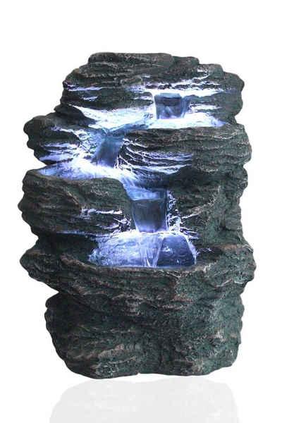 Arnusa Zimmerbrunnen »Niagara«, (Komplett-Set), Springbrunnen für Indoor und Outdoor