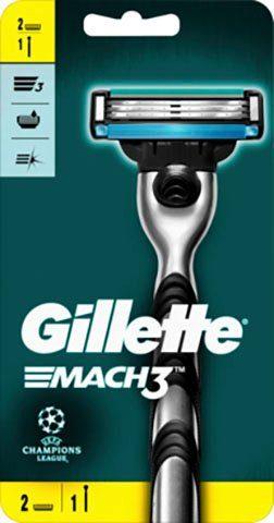 Gillette Nassrasierer »Mach 3«, 3-tlg., Rasierer + 2 Klingen