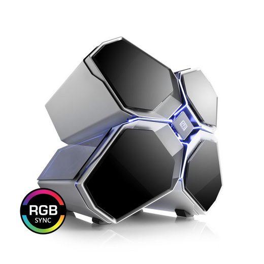 BoostBoxx Gehäuse mit Appsteuerung, Seitenfenster, RGB-Beleuchtung »BoostBoxx Quadstellar«