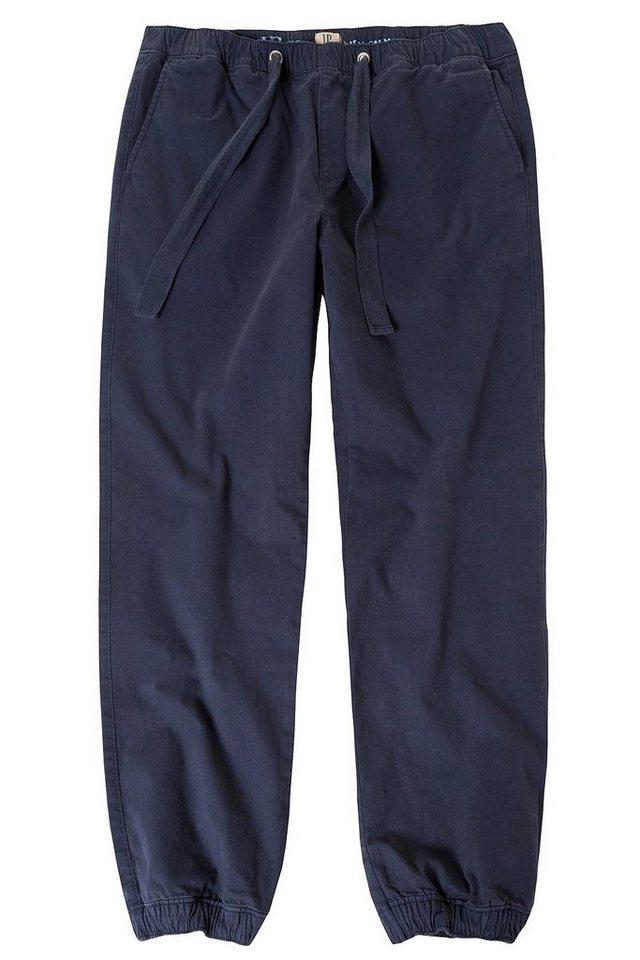 JP1880 Cargohose bis 7XL, Joggpants, Hose mit elastischem Bund und Saum, 2 Eingrifftaschen, Etwas tiefere Leibhöhe | Bekleidung > Hosen > Cargohosen | Blau | JP1880