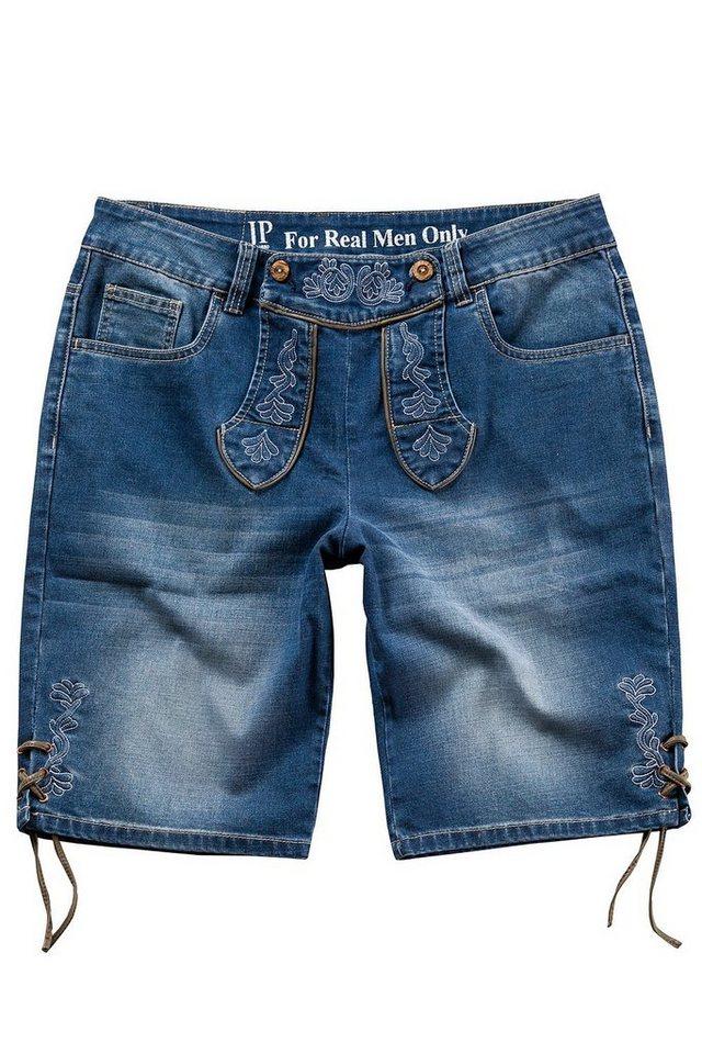 JP1880 Bermudas bis 70, Oktoberfest, Trachten-Bermuda mit Stickereien, Trachtenhose, Jeans-Bermuda, Denim, 5-Pocket-Form | Bekleidung > Shorts & Bermudas > Jeans Bermudas | Blau | Jeans | JP1880