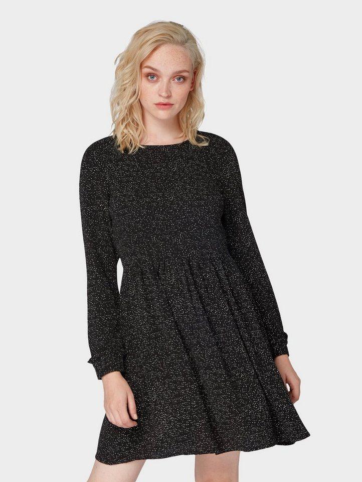 TOM TAILOR Denim A-Linien-Kleid »Gemustertes Kleid« online ...