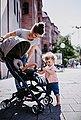 Gesslein Kinder-Buggy »Babies Smiloo Cuby, jeansblau-meliert«, mit Frontbügel, Bild 6