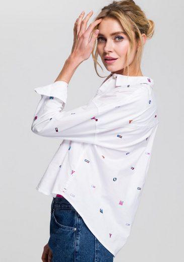 Hemdbluse Mit Vielen Kleinen Tommy Logostickereien Jeans Bwfg5p