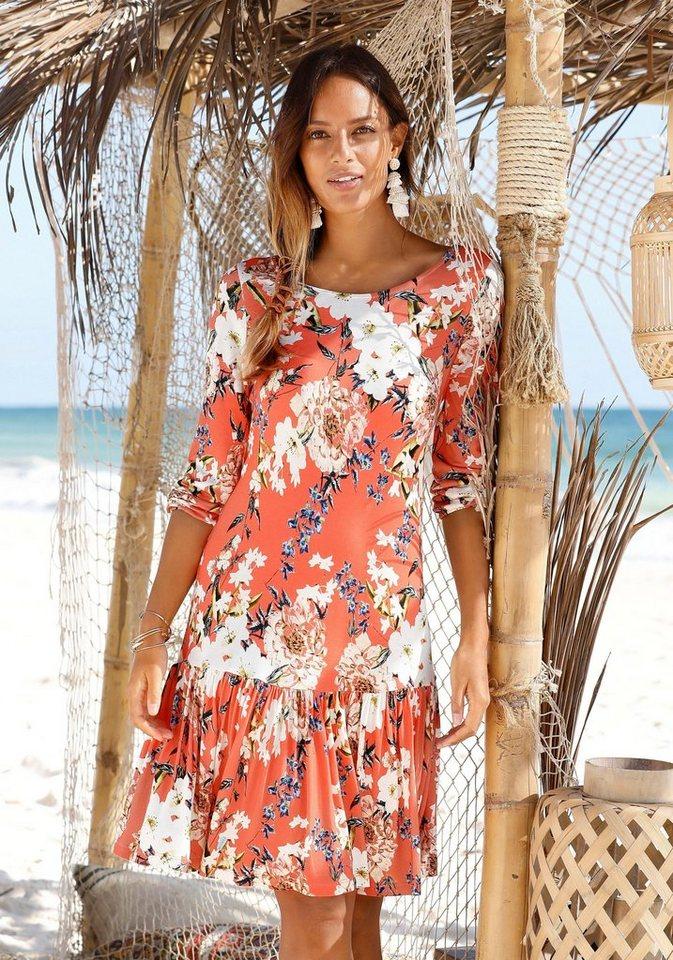 Damen s.Oliver Beachwear Strandkleid mit Blumenprint    08681161675300