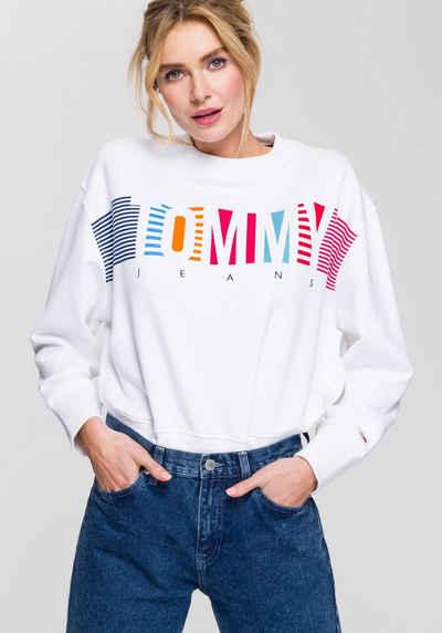 modische Muster Genieße den reduzierten Preis vollständig in den Spezifikationen TOMMY JEANS Pullover kaufen » Hilfiger Denim Pullover | OTTO