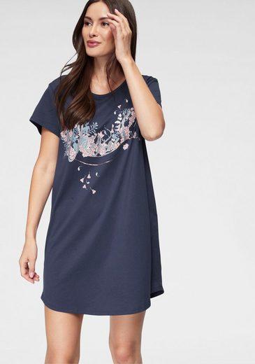 Skiny Sleepshirt mit floralem Frontdruck