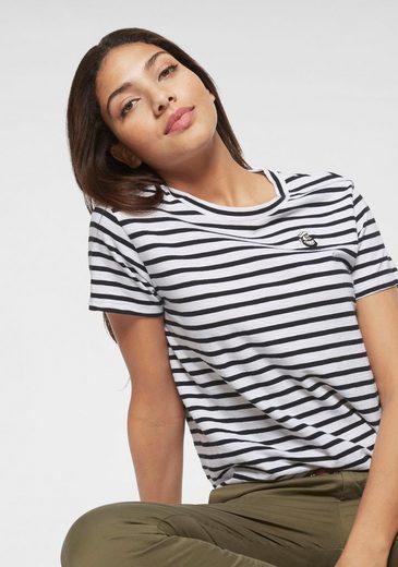 Scotch & Soda T-Shirt im Ringel Look mit süßer Bruststickerei
