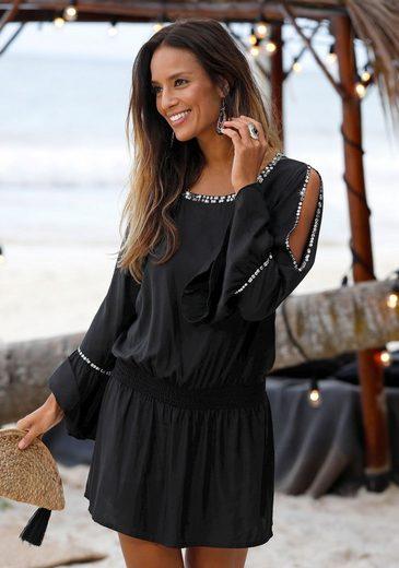 LASCANA Strandkleid mit Paillettendetails