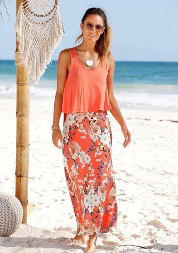 s.Oliver Beachwear Maxikleid im Lagen-Look