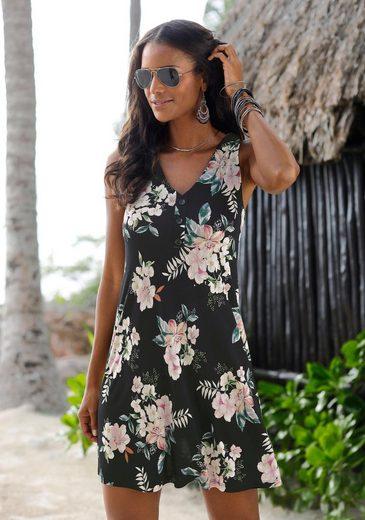 LASCANA Strandkleid mit Blumendruck