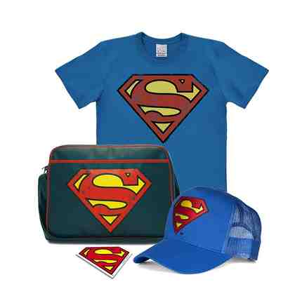 LOGOSHIRT Superman-Set im Retro-Look