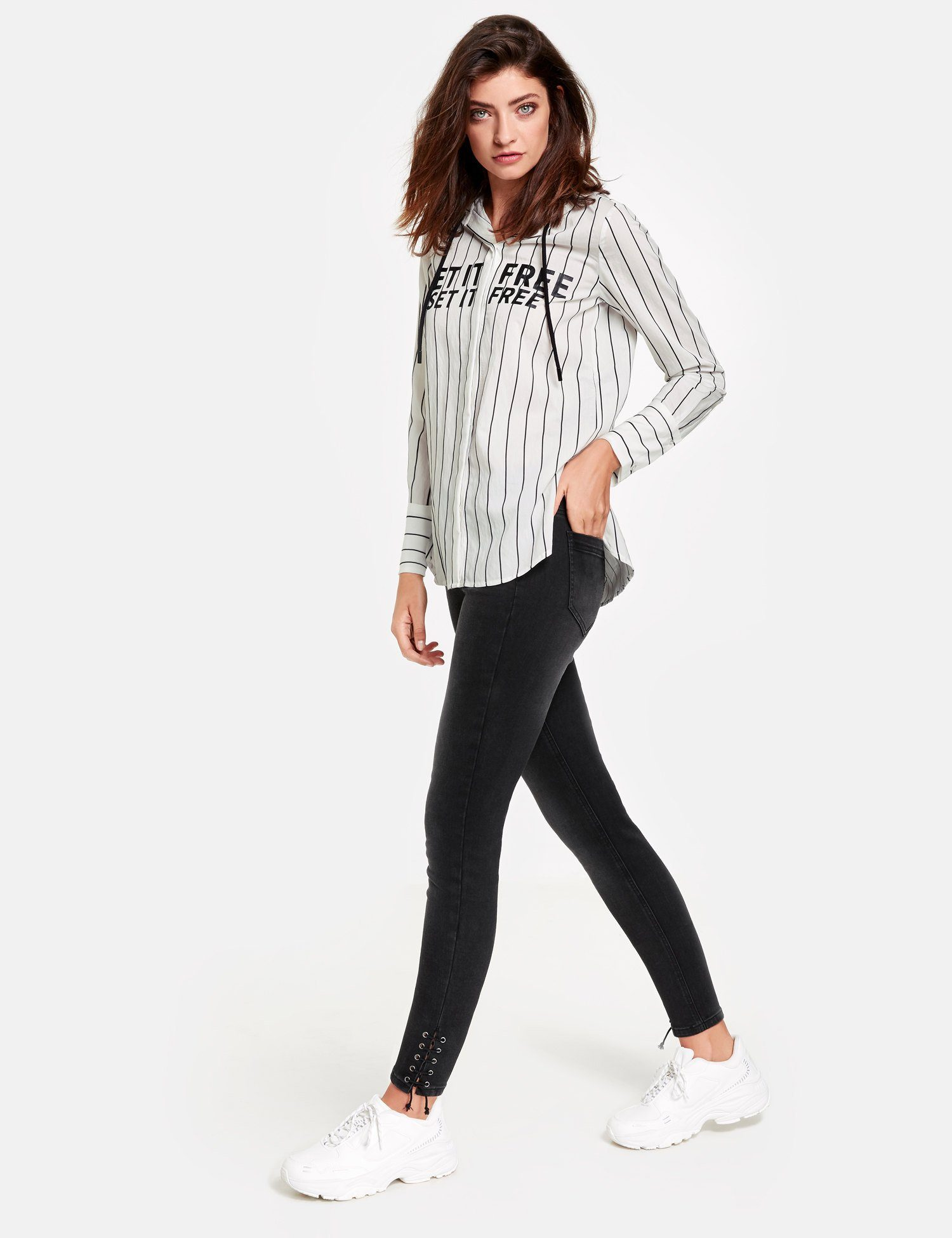 TAIFUN Hose Jeans lang »7/8 Jeans Super Skinny TS«