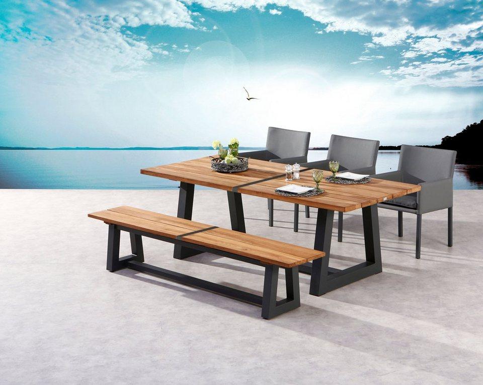 Bevorzugt BEST Gartenmöbelset »Campione«, 5-tlg.,1 Bank, 3 Stühle, Tisch MM48