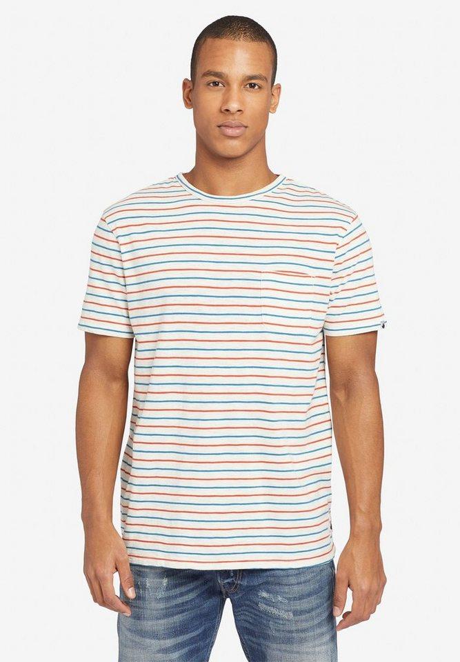 khujo t shirt alfons stripes mit brusttasche und. Black Bedroom Furniture Sets. Home Design Ideas