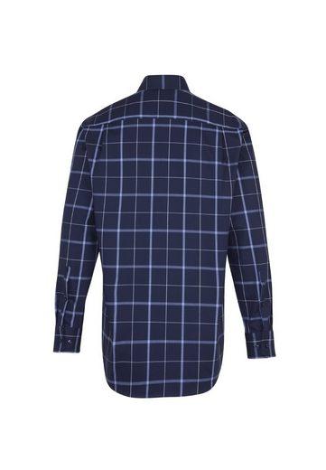 seidensticker Businesshemd »Modern« Modern Langarm Button-Down-Kragen Karo