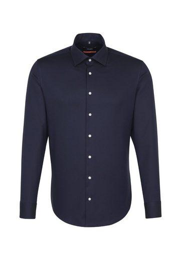 kragen Slim Langarm Seidensticker »slim« Uni Businesshemd Kent wxg1RnzTnq