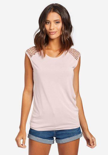 khujo T-Shirt »MARBY« mit Bändchen-Technik und elastischem Bund