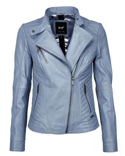 lowest price 66278 e563e Damen Lederjacke in blau online kaufen   OTTO
