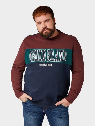 TOM TAILOR Denim Sweater »Sweatshirt mit Schrift-Print«