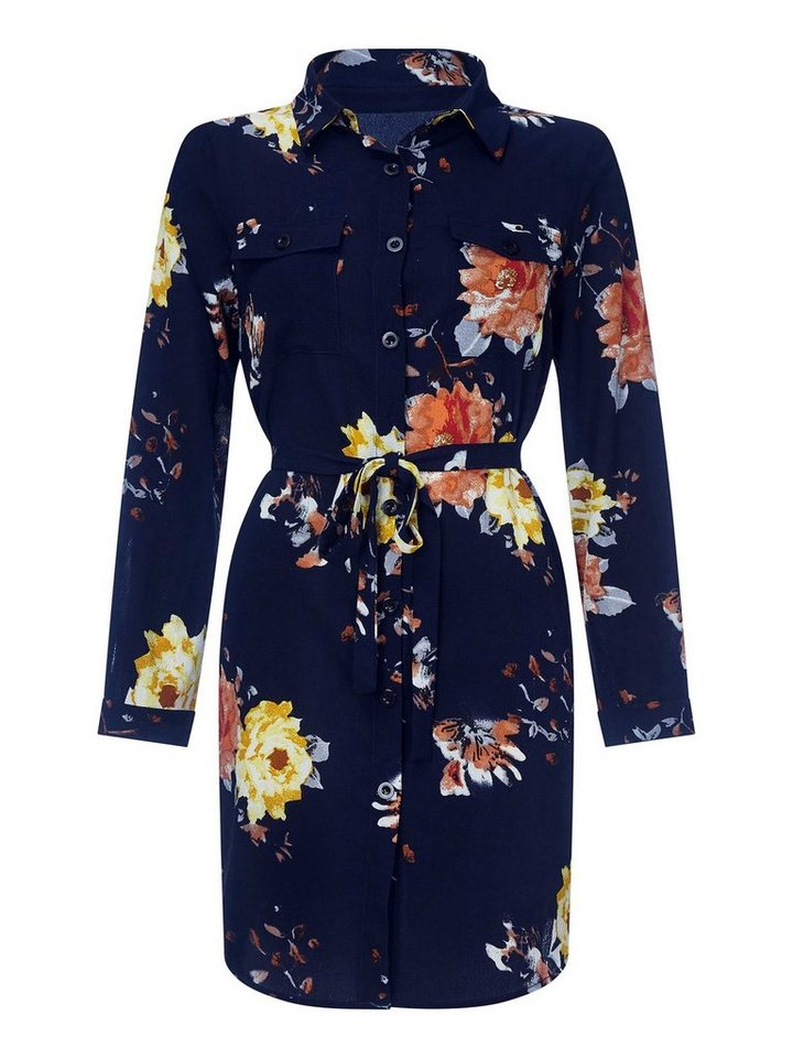 b6c44253808 Mela London Minikleid »FLORAL PRINT SHIRT DRESS«
