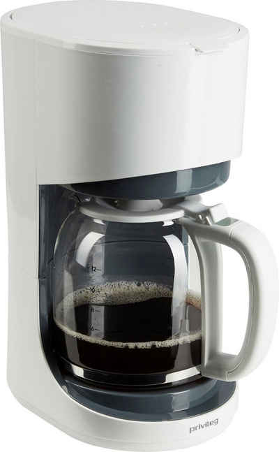 Privileg Filterkaffeemaschine Max. 900 Watt, 1,5l Kaffeekanne, Papierfilter 1x4