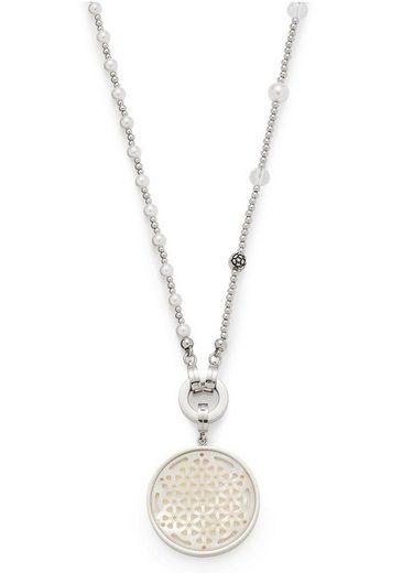 LEONARDO Kette und Anhänger Set »Set Halskette lang Vaporoso Darlin's, 016817« (Set, 4-tlg), mit Perlmutt, Glassteinen und imit. Perlen
