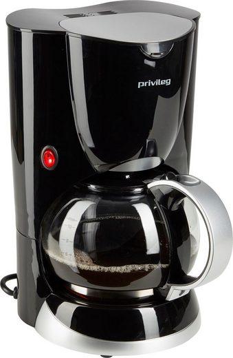 Privileg Filterkaffeemaschine Max. 1080 Watt, 1,37l Kaffeekanne, Papierfilter 1x4, schwarz