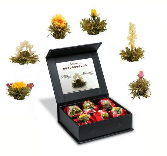 Creano Tee, 0% vol., 6 Erblüh Tee-Kugeln (Weißer Tee) in Magnetbox