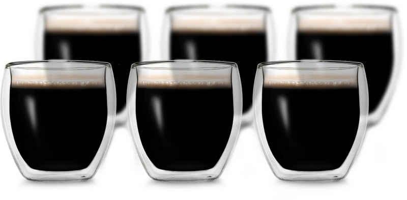 Creano Espressoglas, Borosilikatglas, 6-teilig