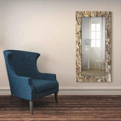 Artland Wandspiegel »Baumrinde«, gerahmter Ganzkörperspiegel mit Motivrahmen, geeignet für kleinen, schmalen Flur, Flurspiegel, Mirror Spiegel gerahmt zum Aufhängen