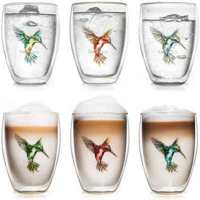 Creano Thermoglas »Hummi«, Borosilikatglas, mundgeblasen, 6-teilig