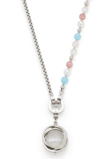 LEONARDO Ketten-Set »Set Halskette Marcella Darlin, 016940« (Set, 4 tlg) mit Glassteinen, Cat´s Eye Perlen und imit. Perlen