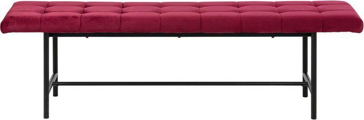 andas Sitzbank »Senta«, mit schönen, schwarzen Stahlbeinen und trendigem, weichen Velvet Bezug