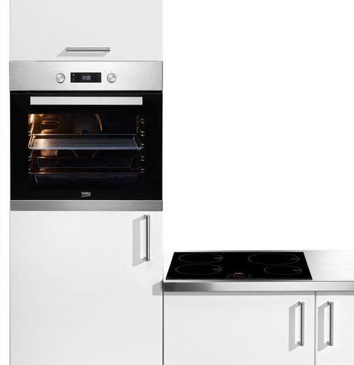BEKO Backofen-Set BSM22321X, Simple Steam Reinigungsfunktion, mit Umluft-Grill