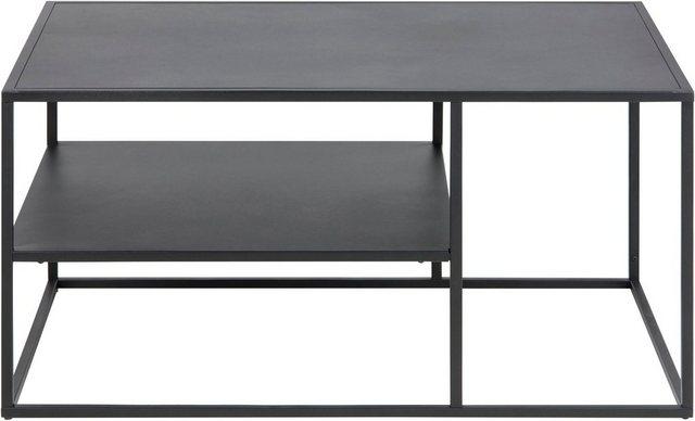 Wohnzimmertische - andas Couchtisch »Vilho«, aus einem schönen, schwarzen Metallgestell, Breite 90 cm  - Onlineshop OTTO