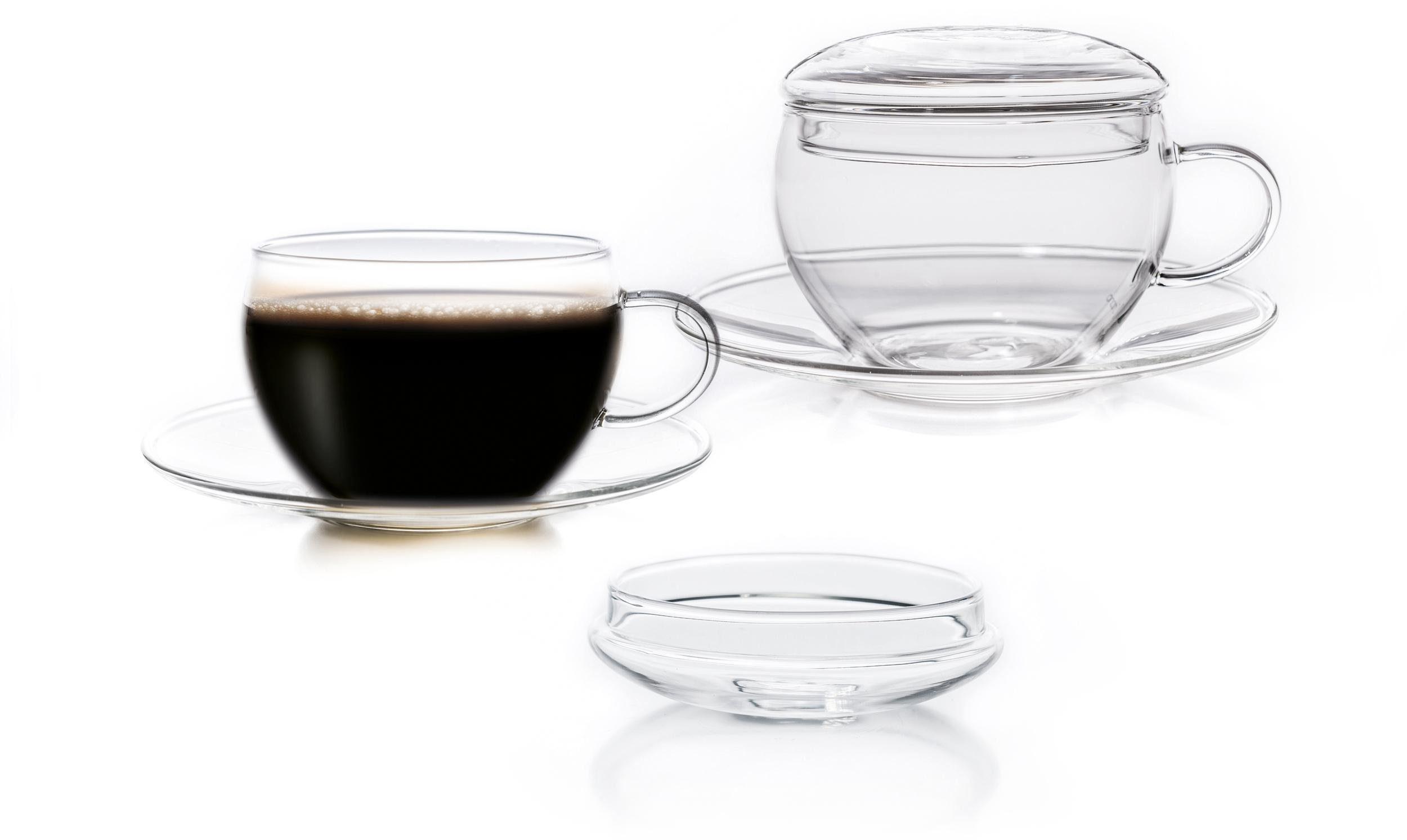 Creano Tasse (2-tlg), inkl. integriertem Glasdeckel
