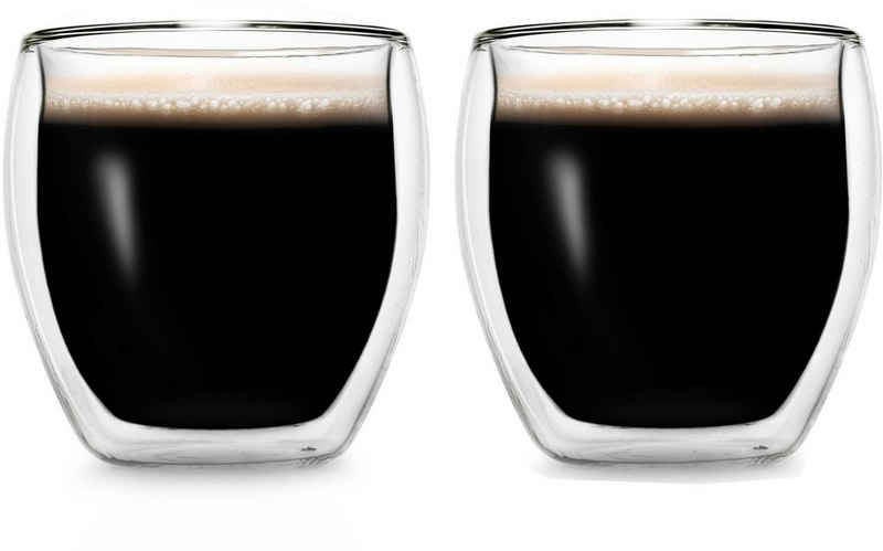 Creano Espressoglas, Borosilikatglas, doppelwandig, 2-teilig