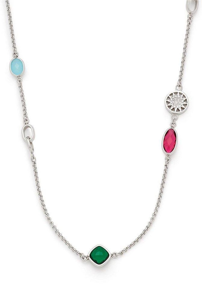 LEONARDO Kette mit Anhänger »Chiaro, 016825« mit Glas- und Kristallsteinen | Schmuck > Halsketten > Ketten mit Anhänger | Bunt | LEONARDO
