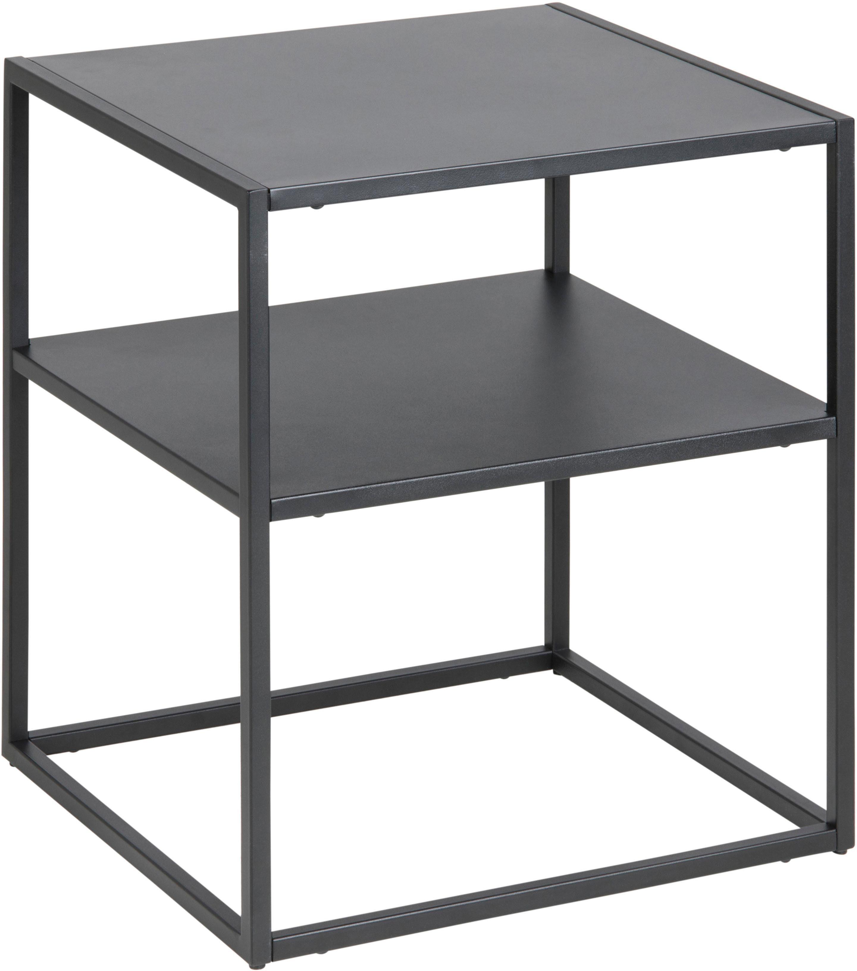 andas Nachttisch »Vilho« aus einem schönen, schwarzem Metallgestell, Höhe 50, 5 cm