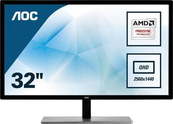 AOC Q3279VWFD8 LED-Monitor (2560 x 1440 Pixel, QHD, 5 ms Reaktionszeit, 75 Hz)