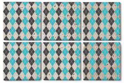 queence Getränkeuntersetzer SGC0066, Set, 6-tlg., aus Naturstein
