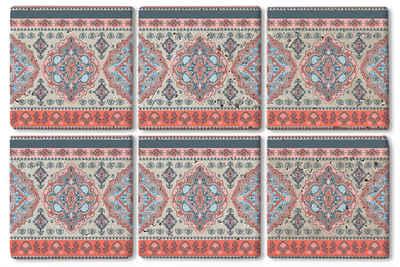 queence Getränkeuntersetzer SGC0051, Set, 6-tlg., aus Naturstein
