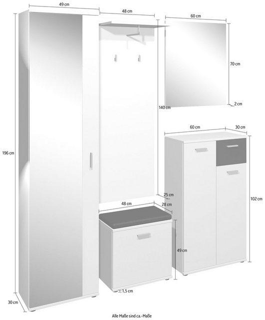 Garderoben Sets - Homexperts Garderoben Set »Justus«, (Set, 5 tlg)  - Onlineshop OTTO