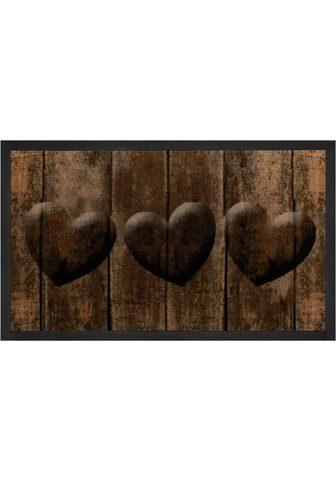 HANSE HOME Durų kilimėlis »3 Hearts« rechteckig a...