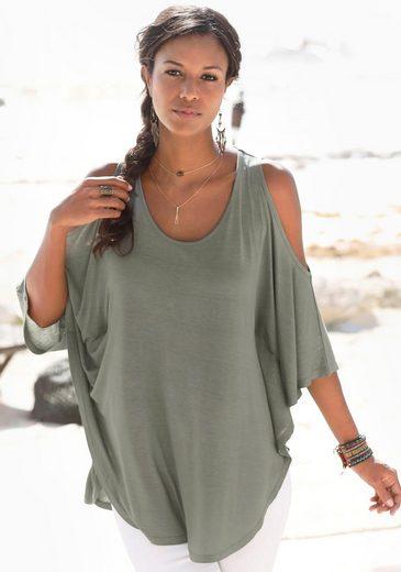 LASCANA Strandshirt mit Zierband im oberen Rücken