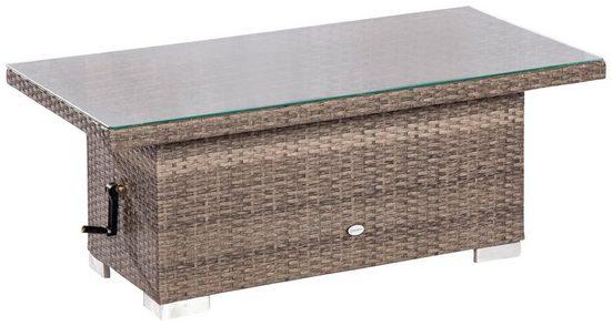 Stahl/ Kunststoffgeflecht, höhenverstellbar, 120x60 cm