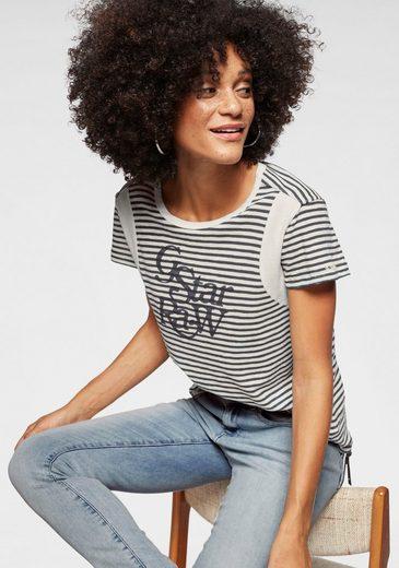 G-Star RAW T-Shirt »Firn r t wmn s/s« im Streifen-Design