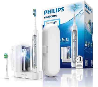 Philips Sonicare Schallzahnbürste HX9172/15 FlexCare Platinum, Aufsteckbürsten: 1 St., mit UV-Reinigungsstation und Reiseetui